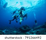 the dive team at the safety... | Shutterstock . vector #791266492