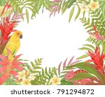 tropical decoration frame for... | Shutterstock .eps vector #791294872