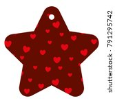 star frame with hearts pattern... | Shutterstock .eps vector #791295742