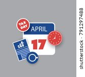 tax day reminder concept  ...   Shutterstock .eps vector #791297488