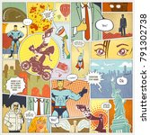 page comics layout concept   Shutterstock . vector #791302738