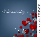 happy valentines day background ... | Shutterstock .eps vector #791306356