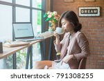 it's time to relax.charming... | Shutterstock . vector #791308255