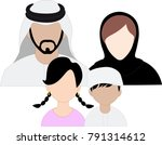 emirates family icon set   arab ... | Shutterstock .eps vector #791314612
