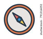 compass navigation direction  | Shutterstock .eps vector #791316052