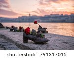 """""""shoes on the danube bank""""  ...   Shutterstock . vector #791317015"""