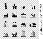 building icons set. | Shutterstock .eps vector #791320786