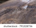 Damaged Road  Cracked Asphalt...