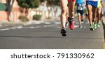 marathon running in the light...   Shutterstock . vector #791330962