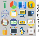 icons set about digital... | Shutterstock .eps vector #791345686