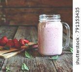 detox. summer detox. strawberry ...   Shutterstock . vector #791353435