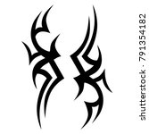 tattoo tribal vector design.... | Shutterstock .eps vector #791354182