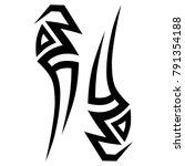 tattoo art tribal vector design.... | Shutterstock .eps vector #791354188