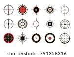 target icons set sniper scope... | Shutterstock .eps vector #791358316