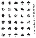 weather icons set | Shutterstock .eps vector #791362636