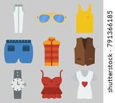 icons set about man clothes . ... | Shutterstock .eps vector #791366185