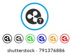 ripple coin unknown status... | Shutterstock .eps vector #791376886
