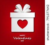 valentine's day. love. a heart. ... | Shutterstock .eps vector #791377642