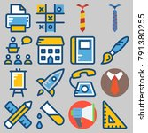 icons set about school and... | Shutterstock .eps vector #791380255