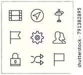 matherial design line icons set ... | Shutterstock .eps vector #791382895