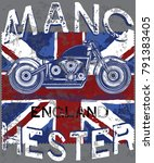 motor club manchester with... | Shutterstock .eps vector #791383405