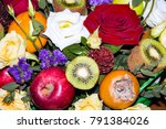 original beautiful bouquet of... | Shutterstock . vector #791384026