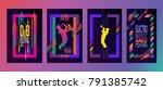 jazz music festival abstract... | Shutterstock .eps vector #791385742