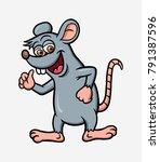 rat cartoon character colorful. ... | Shutterstock .eps vector #791387596