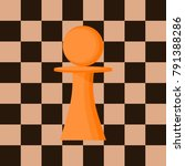 pawn chess figure against the...