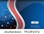 flag of usa background for... | Shutterstock .eps vector #791391472