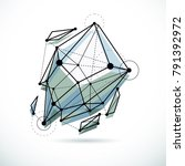 abstract vector background ... | Shutterstock .eps vector #791392972