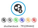 create ripple coin rounded icon.... | Shutterstock .eps vector #791394442