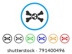 ripple death rounded icon.... | Shutterstock .eps vector #791400496