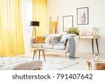 small ladder standing behind a...   Shutterstock . vector #791407642