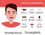 lip sync collection for... | Shutterstock .eps vector #791408995
