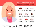 lip sync collection for... | Shutterstock .eps vector #791408998