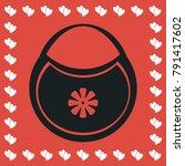 baby bib icon flat. simple...   Shutterstock .eps vector #791417602