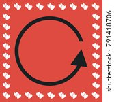 refresh reload rotation loop... | Shutterstock .eps vector #791418706