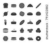 bakery glyph icons set. pastry. ... | Shutterstock .eps vector #791422882