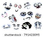 set with internet memes for... | Shutterstock .eps vector #791423095