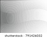 abstract halftone wave dotted... | Shutterstock .eps vector #791426032
