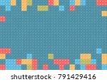 children toy building block... | Shutterstock .eps vector #791429416