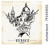 venice vector illustration made ... | Shutterstock .eps vector #791433052