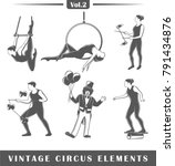 set of elements of the circus...   Shutterstock .eps vector #791434876