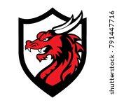 dragon logo business | Shutterstock .eps vector #791447716