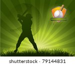 baseball player strikes the... | Shutterstock .eps vector #79144831
