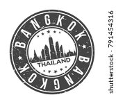 bangkok thailand asia stamp...   Shutterstock .eps vector #791454316