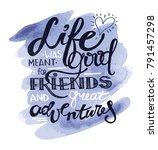 hand drawn motivation poster  ... | Shutterstock .eps vector #791457298