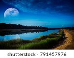 Beautiful Landscape Of Blue Sk...