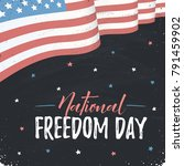 national freedom day of united... | Shutterstock .eps vector #791459902